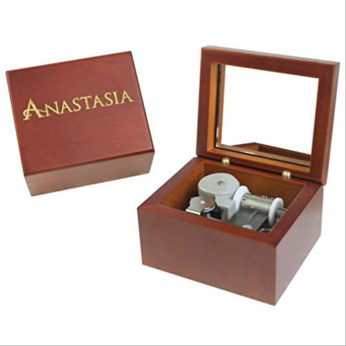 Caja De Música Hecha A Mano De Madera (Anastasia), Regalo De Cumpleaños para Navidad/Cumpleaños /Día DeSan Valentínregalos Especiales para Amantes,Niños
