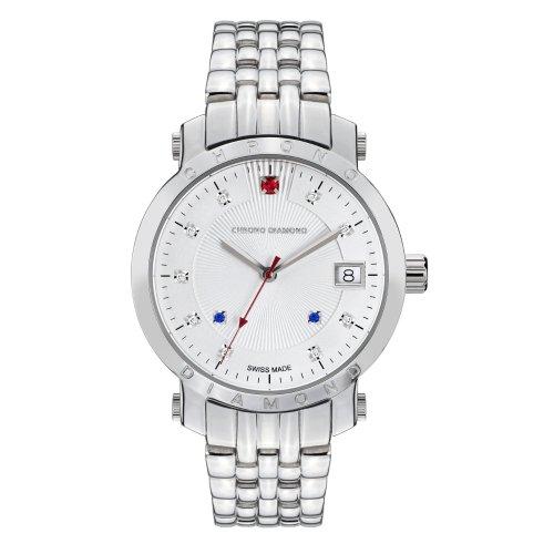 Chrono Diamond Uhr mit Schweizer Quarzuhrwerk Woman 10610F Nesta