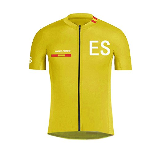 Uglyfrog Maillot Ciclismo/Culotes/MTB Downhill Jersey/Skinsuit Manga Larga y Corta Ropa para Ciclismo Bici Spain Team GQZ01
