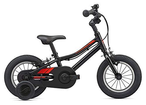 Giant kinderfiets 12 inch Animator F/W 12 van aluminium met wielen fiets mand zwart