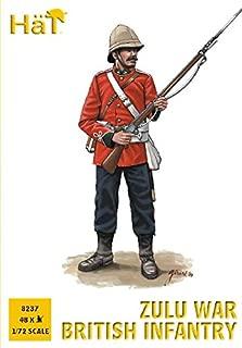 Plastic Toy Soldiers 1/72 Scale Zulu War British Infantry 48 Unpainted Figures Set #8237 Airfix Type