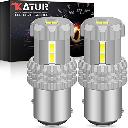 KaTur 1157 BAY15D P21 / 5W 2057 2357 7528 Lampadine a LED 12 pezzi 3020SMD Chipset 2800 lumen utilizzati per luce retromarcia di backup, luce posteriore, luce freno, Xenon bianco (confezione da 2)