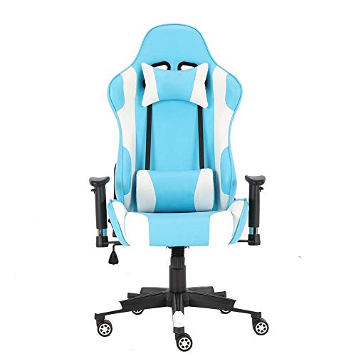 YISUNF Silla de la computadora Silla de E-Sports silla de cuero Oficina Ejecutiva de desplazamiento giratorio de soporte lumbar PC Gaming Chair Muebles de Oficina en juego Trabajo (Color: Color de ima
