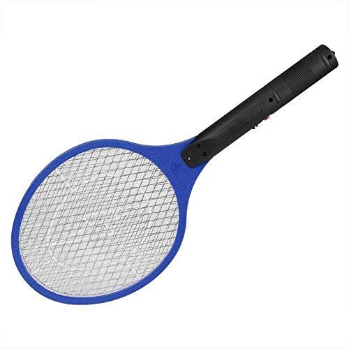 Mosquito eléctrico recargable Swatter Bug Zapper Swatter Racket Anti Mosquito Killer Swatter eléctrico de mosquitos-Azul