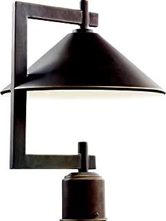 Kichler 49063OZ Ripley Outdoor Post Mount 1-Light, Olde Bronze