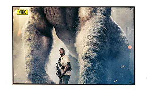 Release Rechazo de luz Ambiental ALR 80 90 100 120 133 Pulgadas Pantalla de proyector de Marco Delgado Fijo para proyección de Cine en casa (Size : 150 Inch)