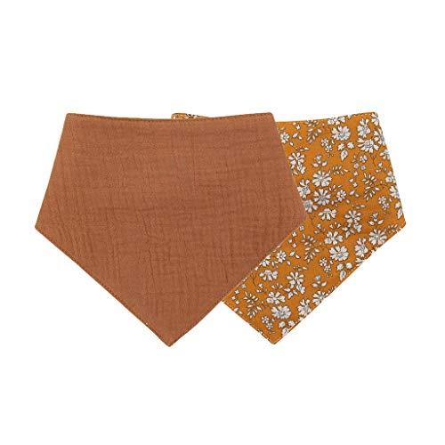 luosh 1 Pieza de algodón Bandana Baberos para bebés Bata de alimentación paños para eructos para bebés Toalla Suave de Saliva