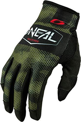 O'NEAL | Fahrrad-Handschuh Motocross-Handschuh | MX MTB DH FR Downhill Freeride | Langlebige, Flexible Materialien, belüftete Nanofront-Handpartie | Mayhem Glove | Erwachsene | Schwarz Grün | Größe L