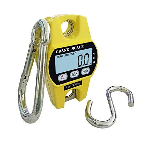 YGB Digital våg exakt, elektronisk digital kranskala, mattjänst kompakt hängande aluminium hög precision hängande bärbar liten elektronisk krok 300 kg/100 g (färg: A)