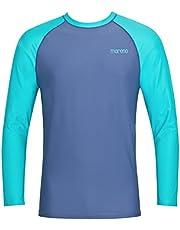 Heren UV-bescherming T-shirt (Rashguard) UV Protect 50+, Oeko-Tex 100 in marineblauw of blauw/turquoise