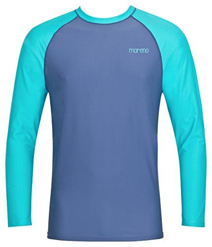 Herren UV-Schutz T-Shirt UV Protect 80, Oeko-Tex 100 in Marine/türkis in Größe XL