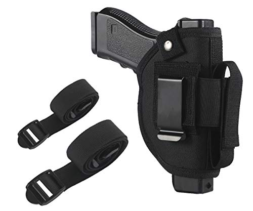 TACwolf Concealed Carry Holster IWB OWB Car Holster with Magazine Slot and 2 Strap Mounts for Right and Left Hand Gun Accessories