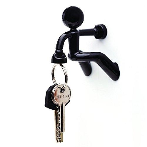 実用的 & インパクト大 KEY PETE 強力 磁石 鍵かけ 鍵フック (ブラック)