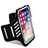 Buloge Running Phone Holder, Workout Gear Phone case,Cell Phones Armband With Key Holder & Card Slot,Water Resistant for Running women(Black)