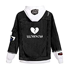 Hip Hop Rapper Collaboration Emo Trap Exclusive Hip Hop Casual Denim Jacket Yicool Fashion Signed Hoodie Gives You The Confidence to Express Your Individuality. Made of Polyester and Denim Fabric, Soft, Comfortable, Breathable And Moisture 32 Styles ...