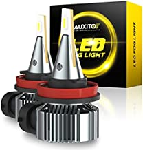 AUXITO H8 H11 H16 LED Fog Light Bulb, Cool White, Super Penetration, LED CSP Chips, 4000 Lumens Per Pair, 30000 Hours Lifespan, Plug and Play, Canbus Error Free, Halogen Replacement DRL Bulbs 2Pack