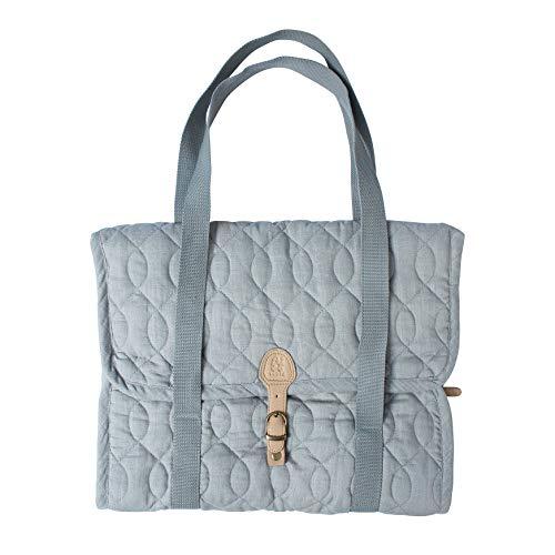 Sebra Wickeltasche aus Baumwolle 45 x 38 cm Elephantengrau