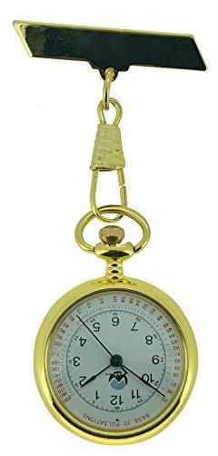 Westime vintage quadrante bianco dorato orologio da infermiere.