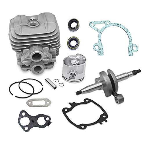 Everest Parts Supplies Complete Engine Rebuild Kit Compatible with Stihl Models TS410 TS420 Includes Crankshaft and Rod Cylinder and Piston with Gasket Set