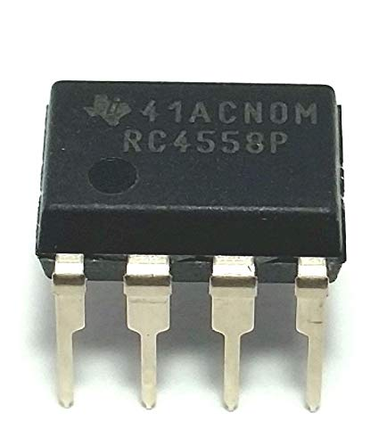 Find Bargain Texas Instruments RC4558P-15 Dual General Purpose OP Amplifier, 8-Pin, 15 Volts, DIP-8,...