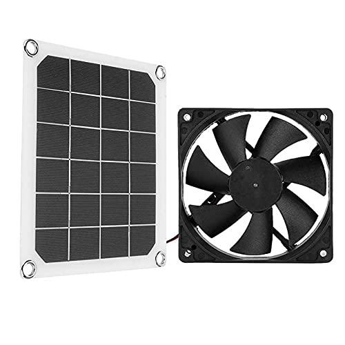 Yiida Solarventilator Gewächshaus, Solarpanel-betriebener Ventilator, Solarpanel-Abluftventilator, IP65 Wasserdichter Solar-Abluftventilator Tragbarer Abluftventilator Für Wohnmobile, Gewächshäuser