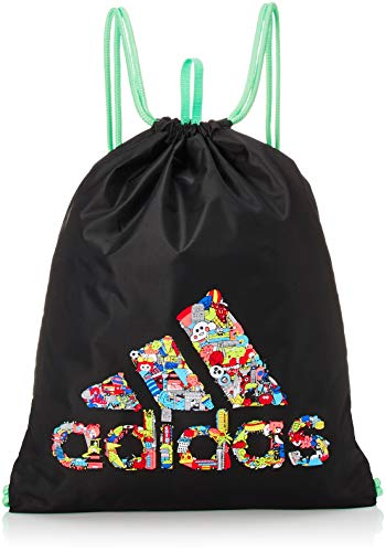 adidas LK Cleo Gymsack Sports Bag, Unisex niños, Black/Glory Mint, NS