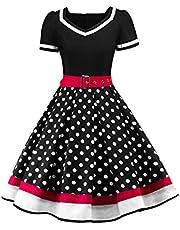 Axoe dambälten prickig rockabilly vintage klänning