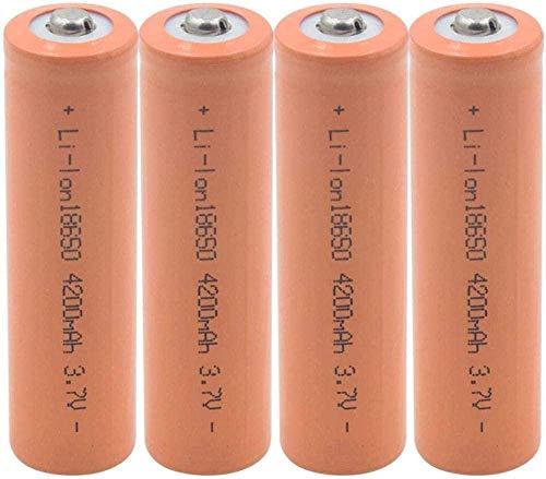 Batería de Litio de 18650 3 7V 4200 MAH Lion Ion BATERÍAS Recargable para LA BATERÍA DE MICRÓFONO Externo DE LA MICRÁTICA DE LA Linea-4 Piezas