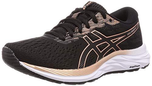 Asics Gel-Excite 7, Running Shoe Womens, Black/Rose Gold, 37 EU