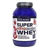 Victory Super Nitro Whey Fresa-Pltano (2,2 kg). Concentrado y Aislado de suero....
