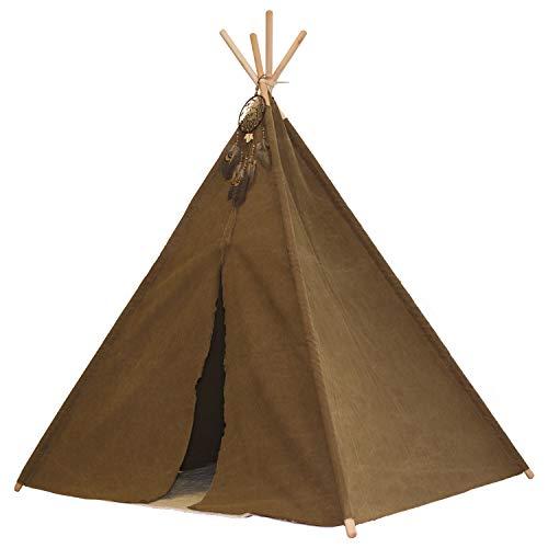 Sunny Indian Tipi Tent Bruin - FSC houten stokken - Incl. vloerkleed