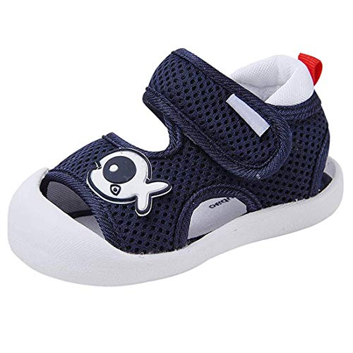 HLMBB Baby Sandals Shoes for Girl Summer Boys Babies Toddlers Size Walking Running Size 4 5 Pink Blue Soft Casual Flats Soft 6 9 12 18 Months
