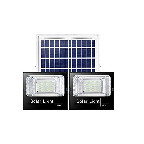 Solar Foco Proyector LED IP67 Luces LED Impermeables Control Remoto con Energía...