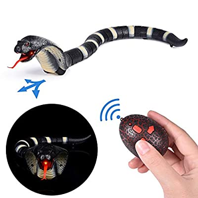 FUN LITTLE TOYS Remote Control Snake Toy, Rechargeable RC Realistic Snake Toy, Party Favors, Party Supplies, 17 Inches by FUN LITTLE TOYS