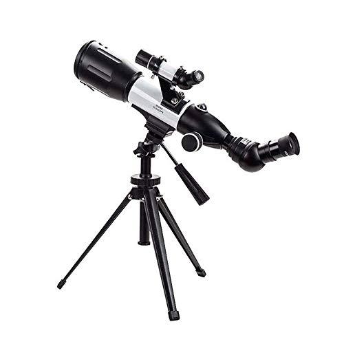 Telescopio para niños, adultos, principiantes, apertura de 50 mm Telescopio refractor astronómico de 350 mm BAK4 Prisma FMC Lente telescopio para astronomía con soporte para teléfono inteligente y