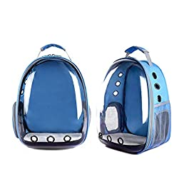 ER-JI Pet Cage, Cat And Dog Travel Hiking Camping Pet Backpack, Space Capsule Bubble Design