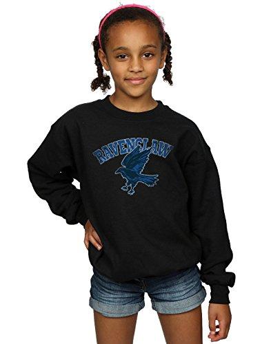 Harry Potter Mädchen Ravenclaw Sport Emblem Sweatshirt 12-13 Years Schwarz
