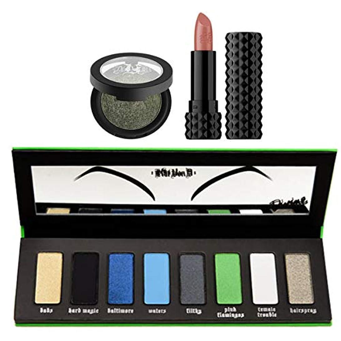 愛情吸収するネストKat Von D キャットヴォンD, I Am Divine Palette + Metal Crush Eyeshadow (Black No. 1) + Crème Lipstick [並行輸入品] [海外直送品]