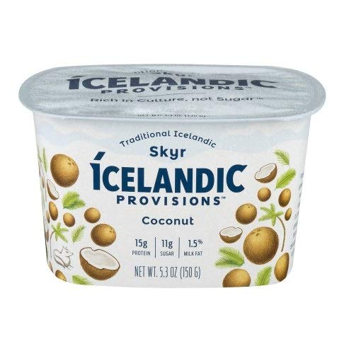 Icelandic Provisions Coconut Skyr Yogurt, 5.3 Ounce (Pack of 12)