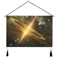 MISCERY タペストリー、超巨大ブラックホール銀河中心重力、壁掛けタペストリー壁画 壁飾り 家 リビングルーム ベッドルーム 部屋 おしゃれ飾り モダンなアート