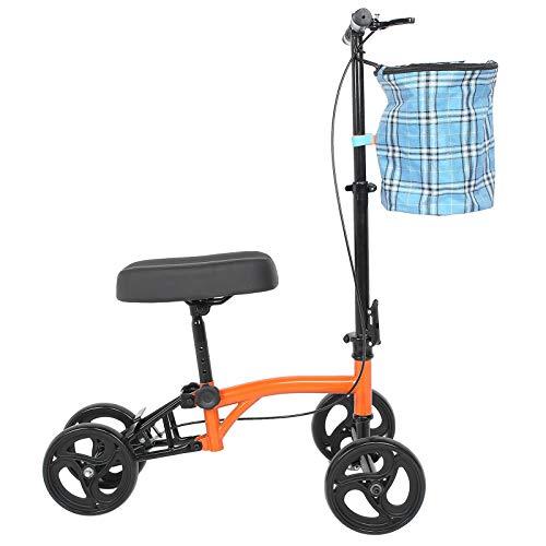 Knie Rollator Alternative Medizinische Knie Scooter Lenkbarer Knie Walker Gehwagen für Senioren Behinderte Hochleistungskrücke Alternative für Fußverletzungen