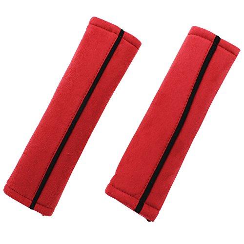 Sumex BPS4300 Juego de Almohadillas para Cinturón de Coche, Rojo, Set de 2