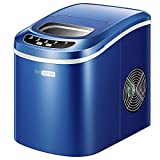 VIVOHOME Electric Portable Compact Countertop Automatic Ice Cube Maker Machine 26lbs/day Navy Blue