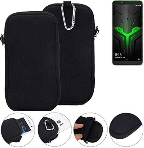 K-S-Trade® Neopren Hülle Für Xiaomi Blackshark Helo Schutzhülle Handyhülle Schwarz