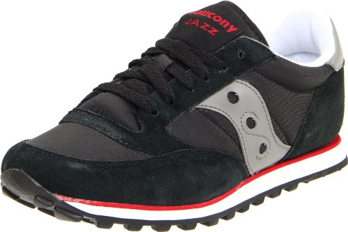 Saucony Originals Men's Jazz Low Pro Classic Retro Sneaker, Black/Silver, 11 M US