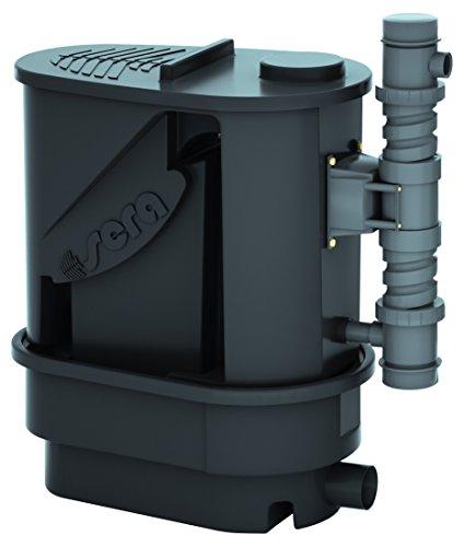 sera 08309 KOI Prof. 12000 Teichfilter inkl. UV-C-System 55 Watt, mit Spaltsieb, Feinfilterschwamm, Matala-Matte und 10 Ltr. siporax Pond 25mm