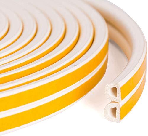 Albelt?隙間テープ ドア 窓 気密テープ すきま風防止 すき間侵入防止シール 騒音軽減 衝突防止 冷暖房効率アップ?冷気遮断 防音防虫 D型タイプ 9mm x 6mm x 10m (ホワイト)