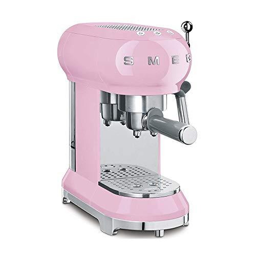 Smeg ECF01PKUS Espresso Machine, Pink
