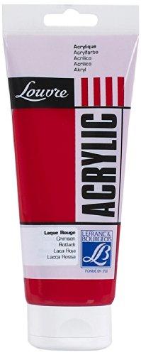 Lefranc & Bourgeois 174211 Studio Acrylic Louvre - 200ml Tube, Acrylfarbe Rot - LAQUE ROUGE