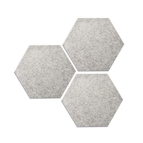 Mousyee Tablero de Corcho para Pared, 3 Piezas Azulejos Hexagonales Memo de Fieltro Autoadhesivo Tablón de Anuncios con Pasador de Pared de Fieltro Decoración del Hogar para el Hogar y la Oficina